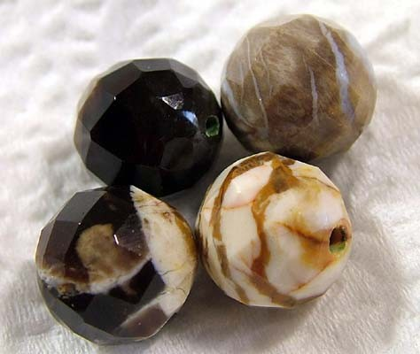 PETRIFIED WOOD BEADS, (8 PC) 53 CTS NP-148