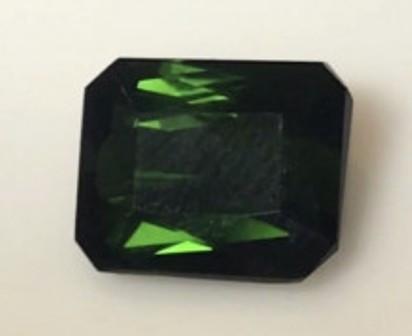 3.1ct Emerald Cut Dark Green Tourmaline -  A420 H656