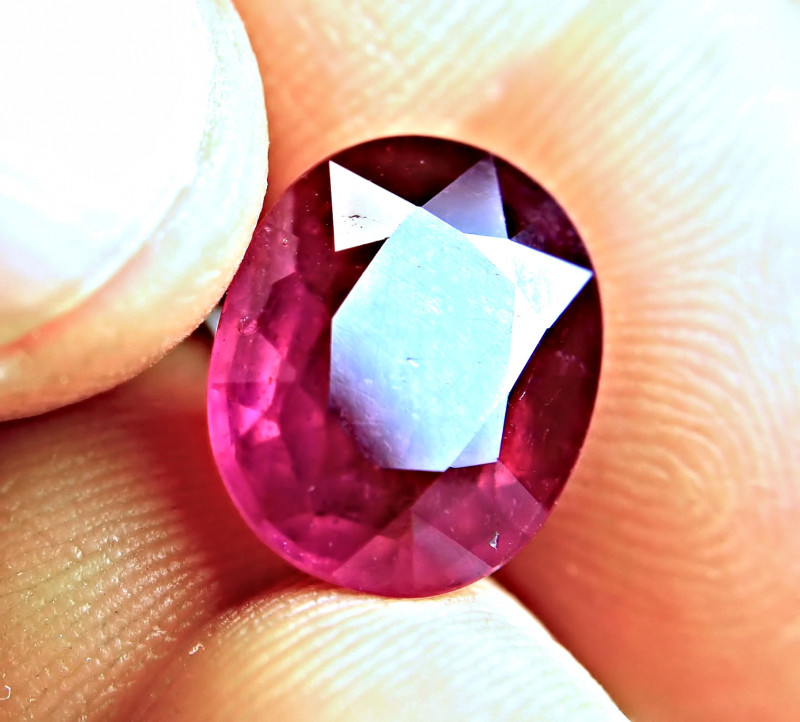 9.91 Carat Fiery Pigeon Blood Ruby - Superb