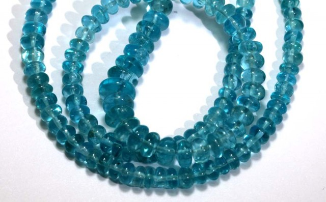112 CTS NATURAL STRANDS APATITE POLISHED BEADS TBG-2215
