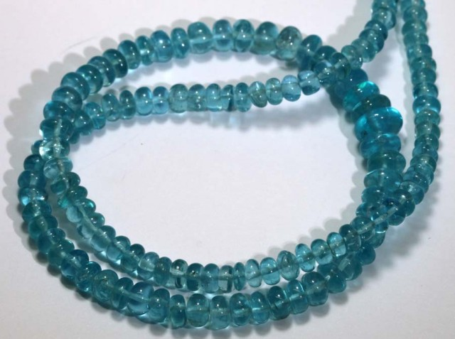 120 CTS NATURAL STRANDS APATITE POLISHED BEADS TBG-2216