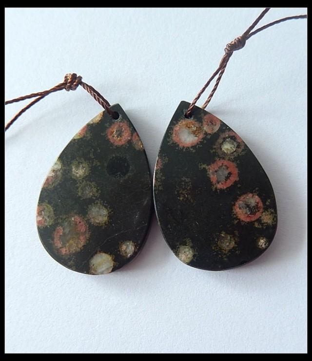 Poppy Jasper Earring Beads,42.5ct