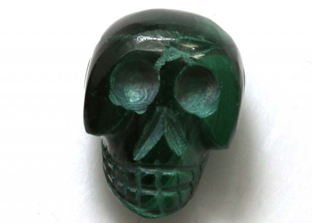 MALACHITE SKULL CARVING 27.25 CTS LT-627