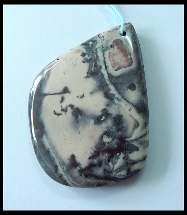 115.5ct Natural Purple Picture Jasper Pendant Bead