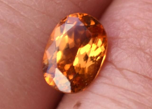 1.40 Carat Oval Cut Nice Hessonite Garnet