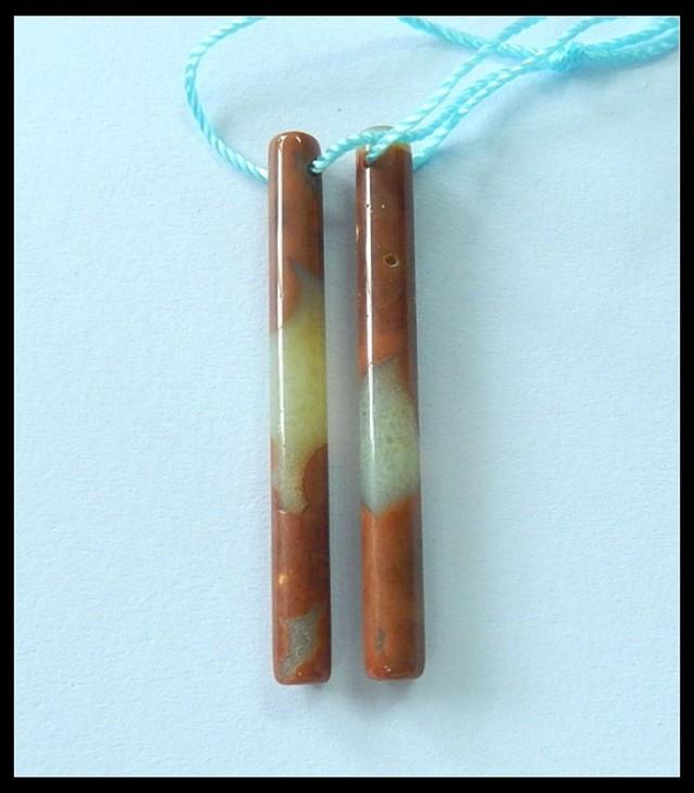Long Ocean Jasper Earring Beads,Stick Earring Beads