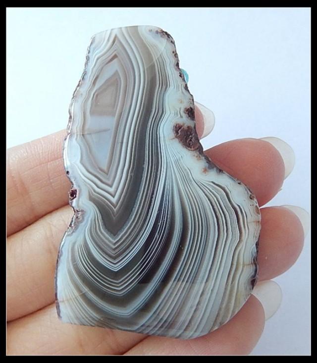 154ct Natural Agate Pendant Bead,Beautiful Agate GEMSTONE(N012)