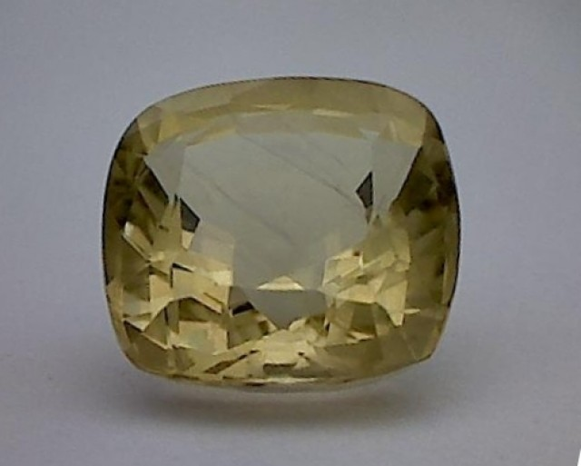6.55ct Lovely Cushion Cut Bright Yellow Quality Tourmaline IF/VVS MH1631