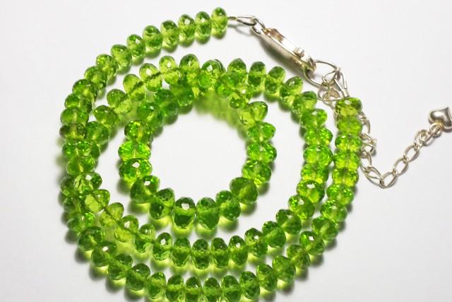 Natural AAA grade microfacetted peridot beads  170 carats