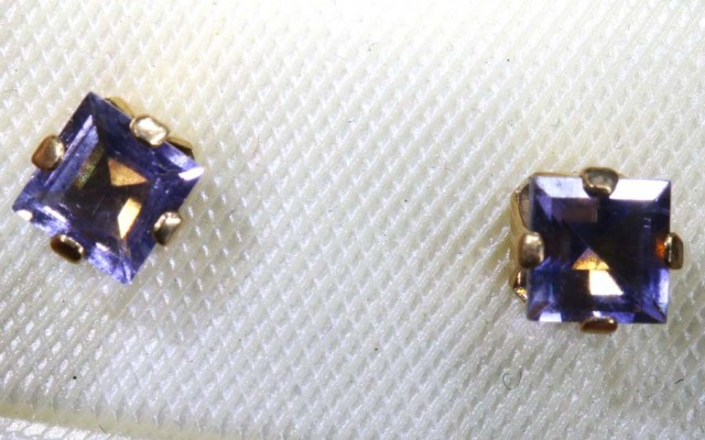 2.05 CTS IOLITE EARRINGS SJ-46