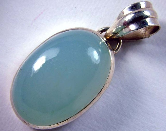 CHALCEDONY  SILVER PENDANT 55 CTS SG-2188