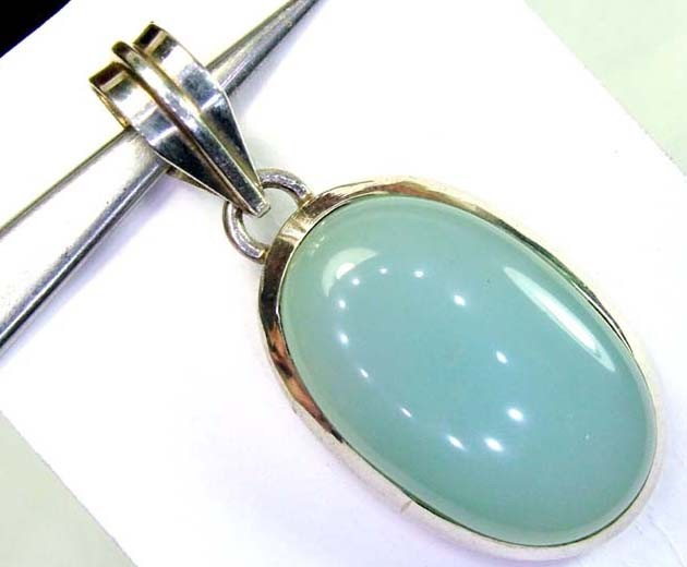 CHALCEDONY SILVER PENDANT 45 CTS SG-2168