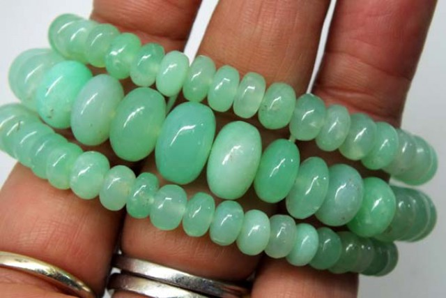 CHRYSOPRASE NECKLACE 181  CTS   TBJ-707