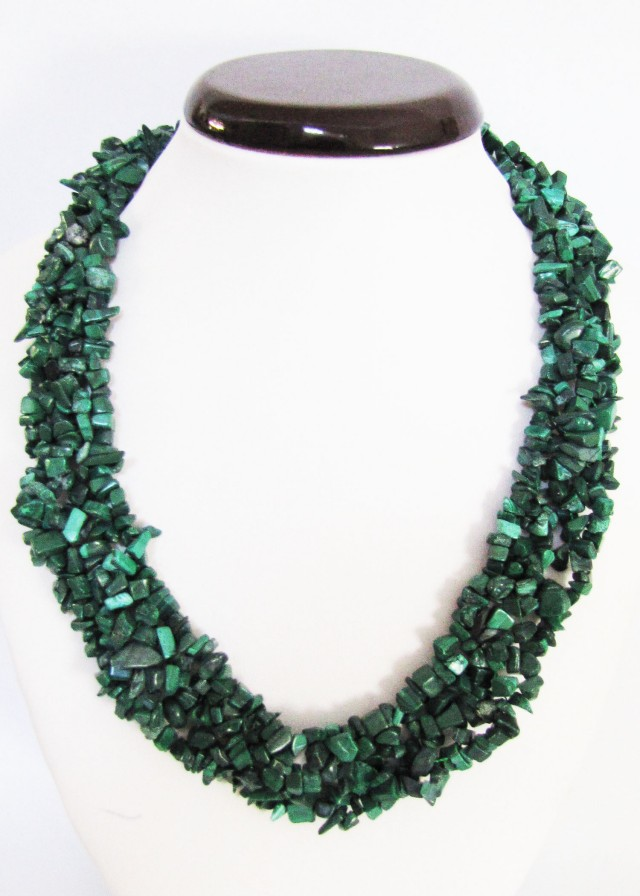 770 Cts Beautiful Malachite Necklace    MJA 1065