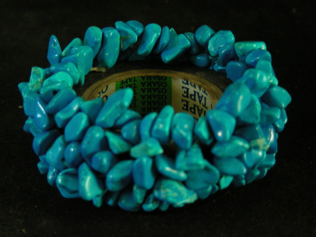 dyed TURQUOISE BLUE Howlite BRACELET 11059