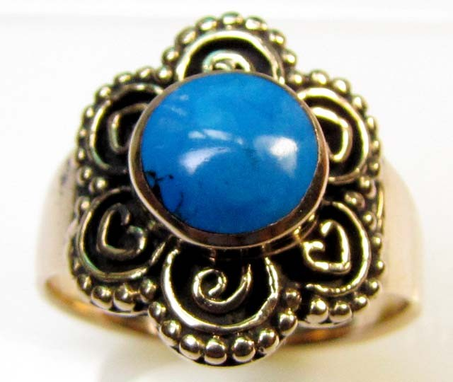 DYED HOWLITE BRONZE RING RT 354