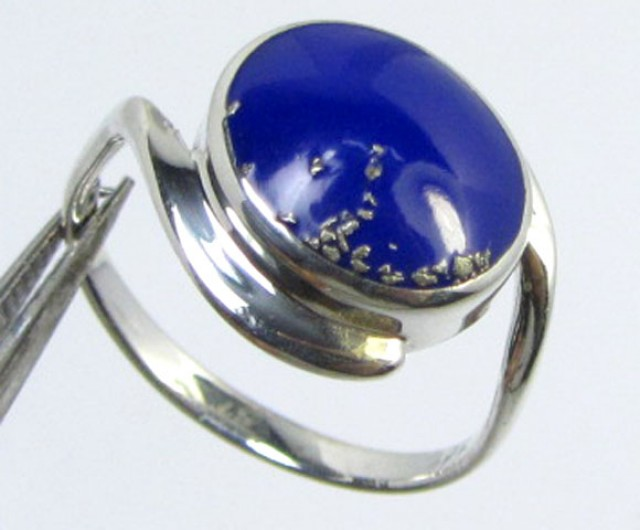 LAPIS LAZULII  SILVER RING SIZE    GG  1015