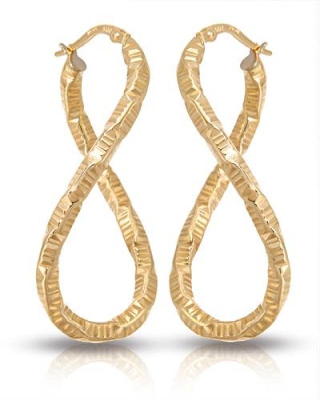 NEW HOOP EARRINGS OF 14K YELLOW GOLD