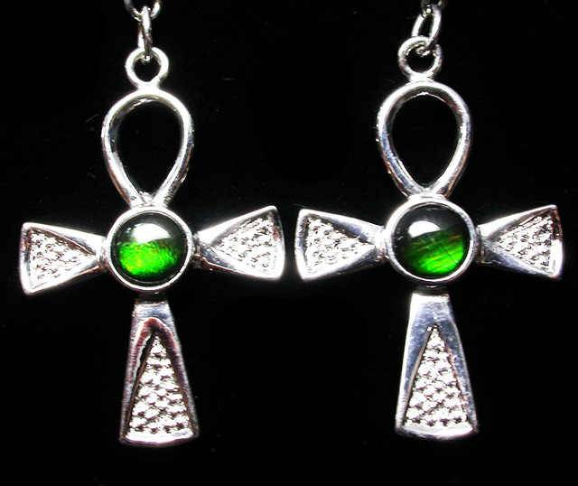 23.87 CTS AMMOLITE EARRINGS -SLIVER [SJ2531]