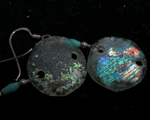 ANCIENT ROMAN GLASS EARRINGS  MJA 200