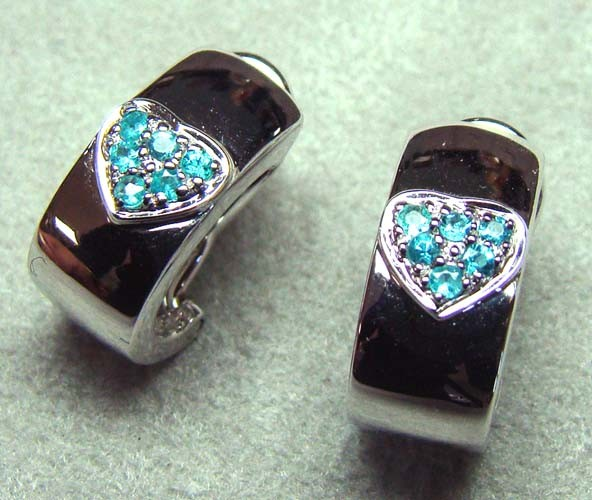 PARAIBA EARRINGS 18K WHITE GOLD 21CTS DN-26