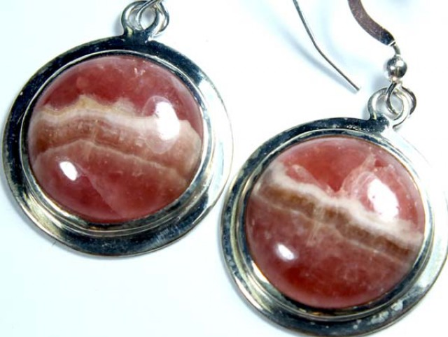 RHODOCHROSITE EARRINGS  40.70 CTS  SJ-18