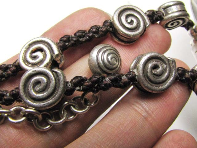 LARGE THAI HILLTRIBE SILVER NECKLACE 255 CTS GTT 1666