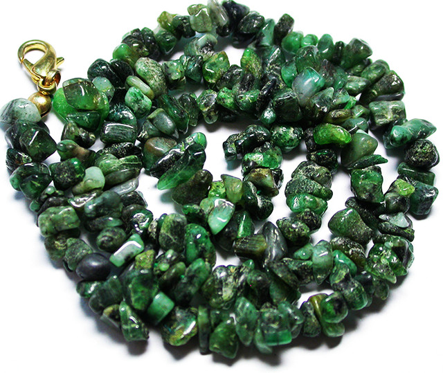 125.00 CTS EMERALD NECKLACE  WITH CLIP [SJ2675]