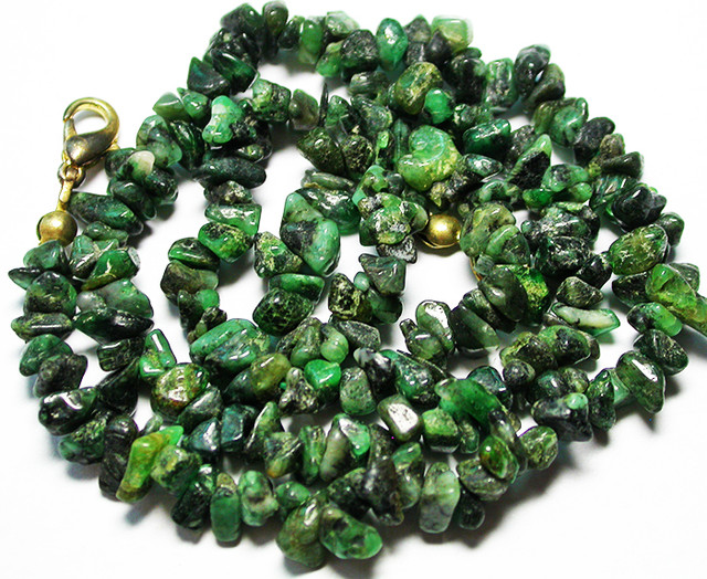 110.00 CTS EMERALD NECKLACE  WITH CLIP [SJ2677]