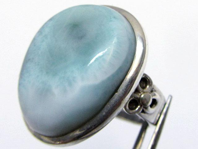 Larimar Gemstone Ring Size   9  MJA 346