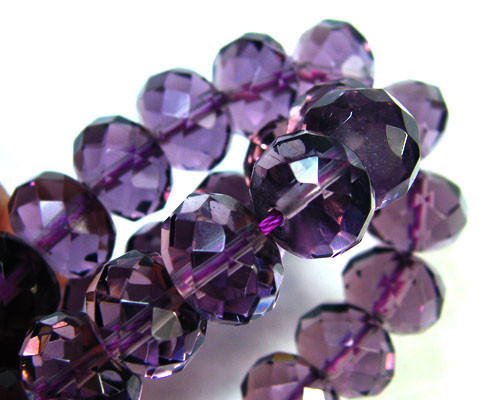 AMETHYST FACETED ROUND BEADS NECKLACE 395 CTS GWE 29-2