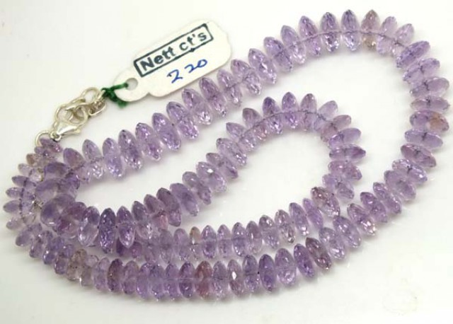 AMETHYST NECKLACE 220  CTS   TBJ-710