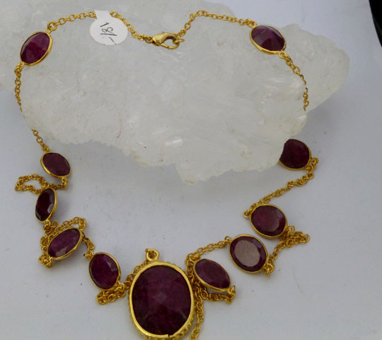 AFRICAN RUBY NECKLACE 70 CM LENGTH  RT 999