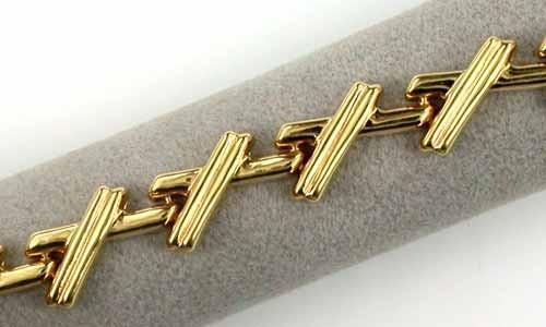 12.6 GRAMS  18K GOLD BRACELET 7 1/2 INCH LONG 12.6 GRAMS GB1
