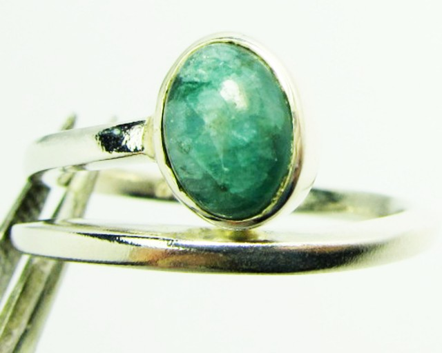 ADJUSTABLE Malachite STYLISH SILVER RING SIZE 9  GG102