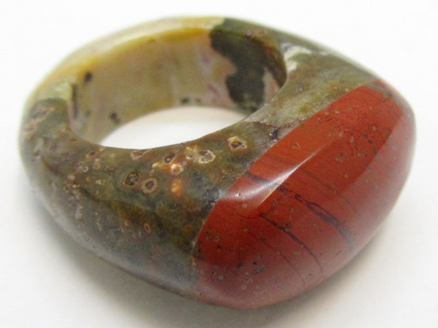 NATURAL JASPER RING SIZE 8.5 MJA 829