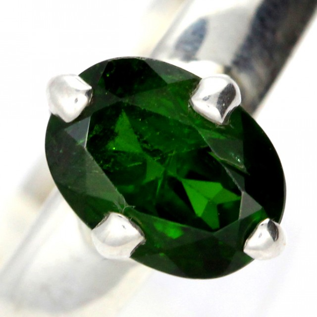 CHROME DIOPSIDE SILVER RING-  [SJ4200]