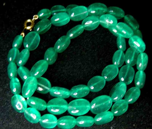 GREEN QUARTZ  GEMSTONE  NECKLACE 173.00 CTS 90749