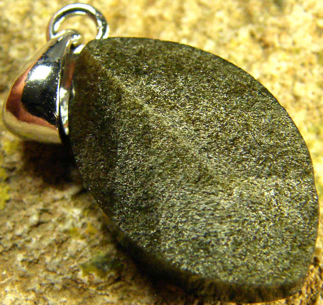 SHIMMERING PYRITE SILVER  PENDANT  6.30 CTS [SJ421]