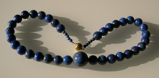 VERY NICE LAPIS NECKLACE 45cm