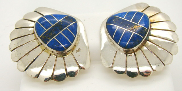 Sterling Silver and Lapis Earrings JA-52