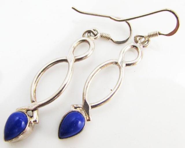 24 Cts   lapis lazuli in silverEarring   MJA995