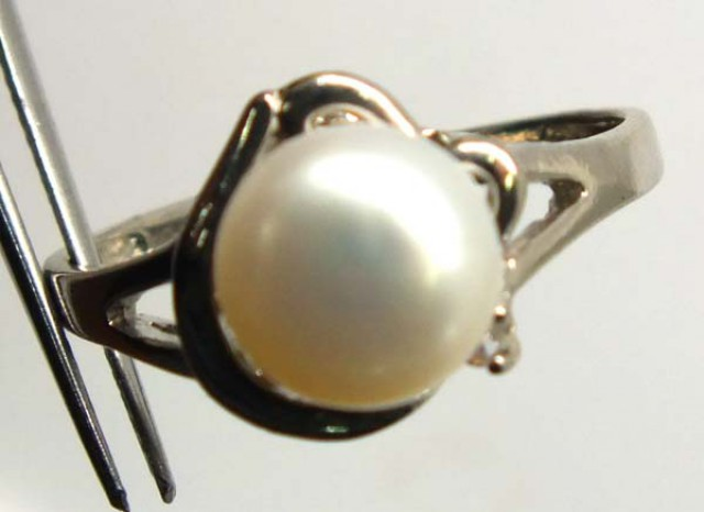 PEARL RING SILVER 14.55 CTS LJ-81
