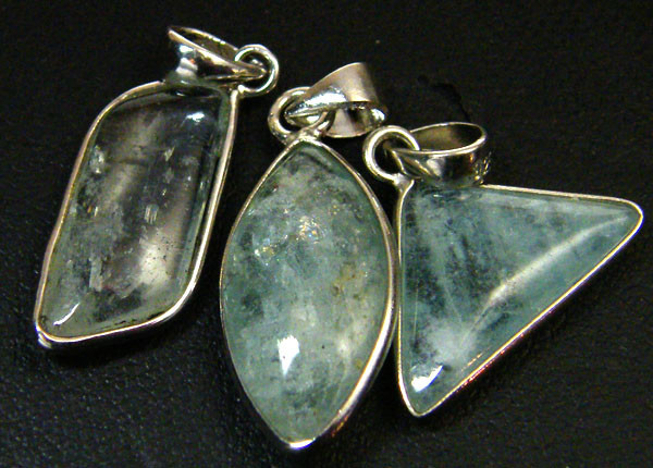 PARCEL THREE AQUAMARINE PENDANTS 19     CARATS    AAA 2406