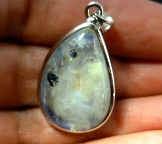 MOONSTONE SILVER PENDANT  TCW 39  CARATS RT 928