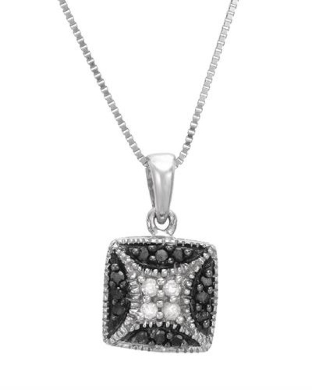 NEW GENUINE DIAMOND NECKLACE WITH 18 INCH 925 STERLING CHAIN