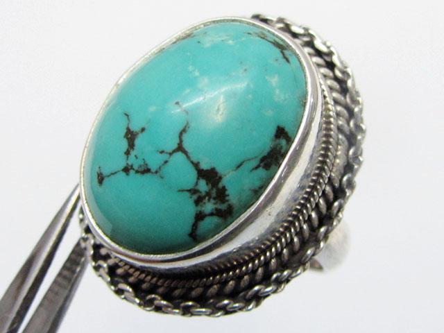 Beuatiful  Turquoise Ring Size    7.5  MJA352