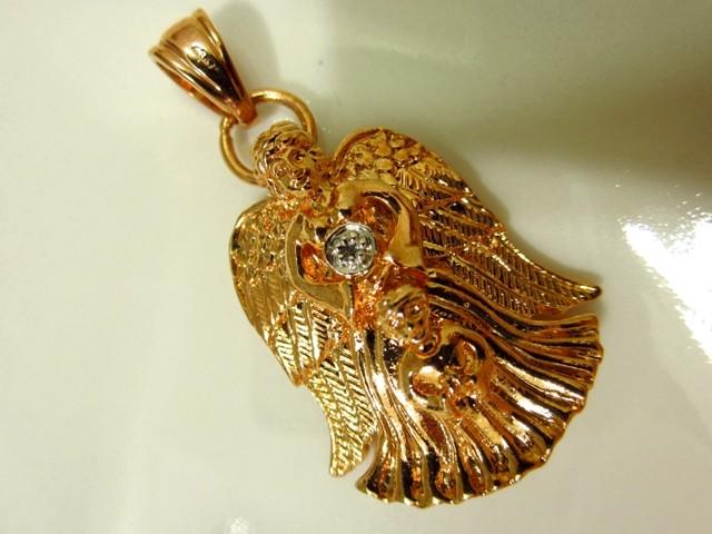 Vintage GUARDIAN ANGEL Pendant With Very Small Diamond