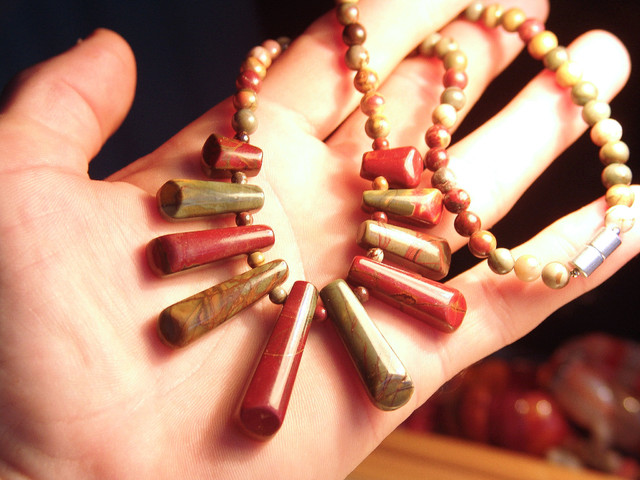 18 inch Pictured Jasper Necklace