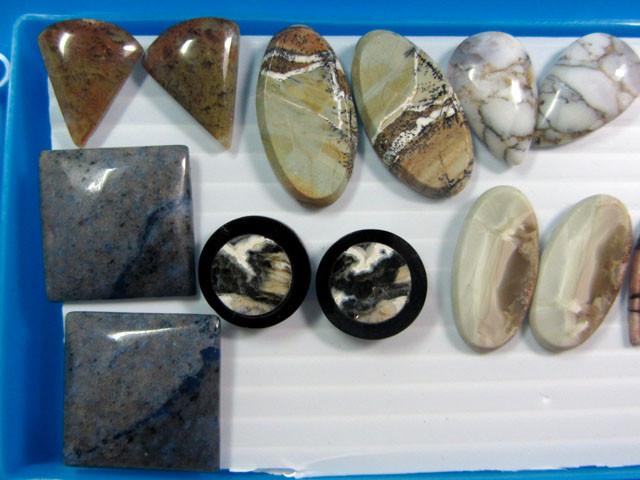 8 MIXED GEMSTONE EARRINGS-RE SELLERS PARCEL  MYGM 536